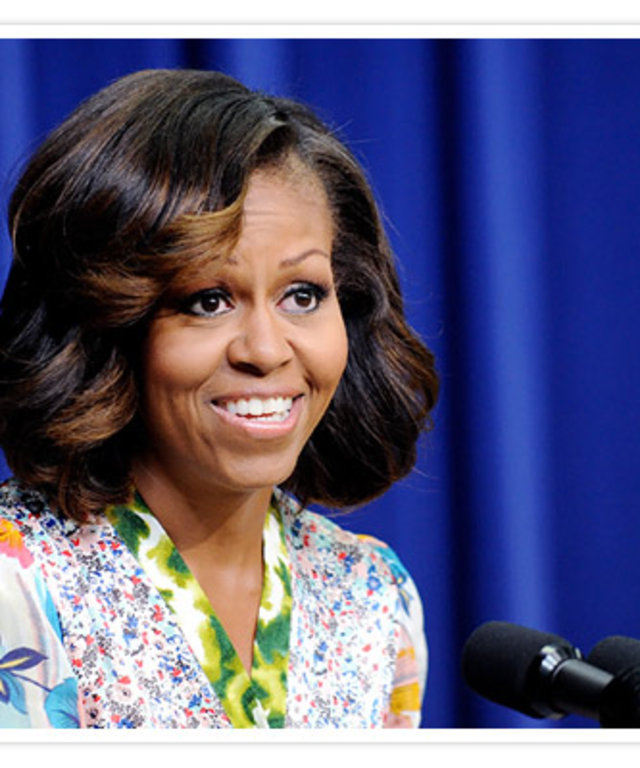 Michelle Obama Ombre Highlights