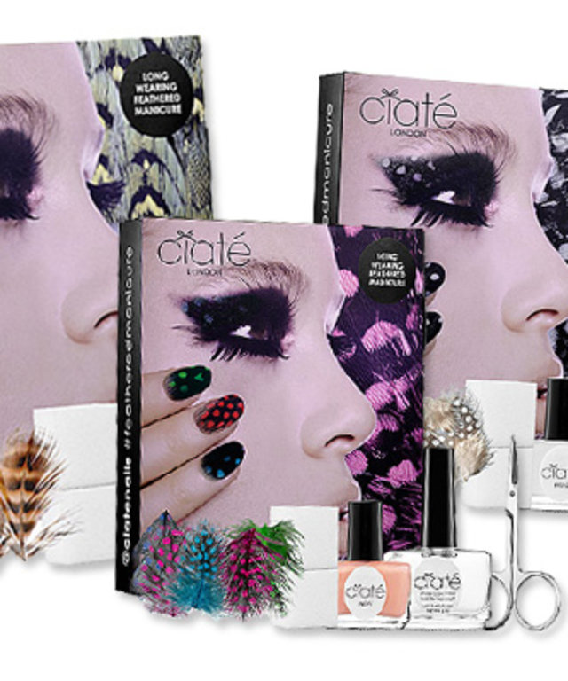 Feather Manicures - Nail Art - Ciate