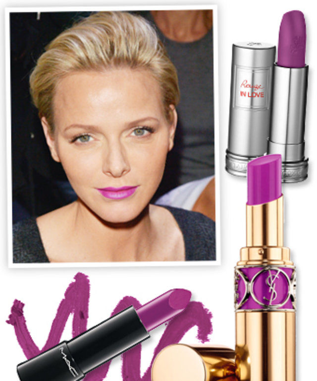 Princess Charlene Purple Lipstick