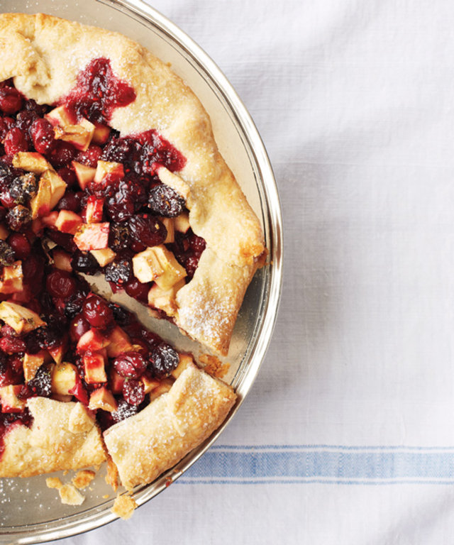 Galette with Cranberries, Lime, and Fresh Ginger