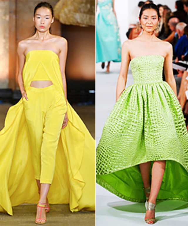 Colors of the Spring/Summer 2014 Runway