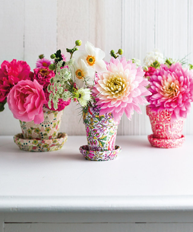 Make It Yourself Liberty Print Flower Pots Instyle Com