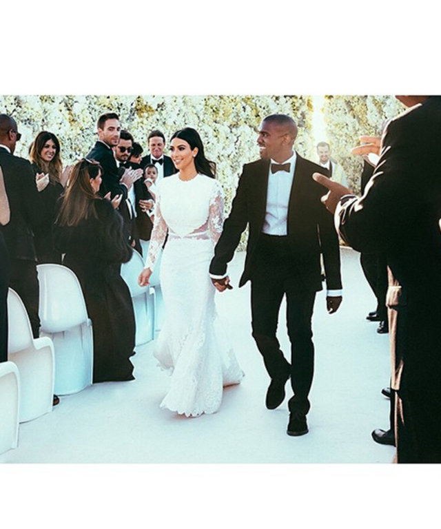 See 52 Photos From The Kimye Wedding Including Kim In Her Dress