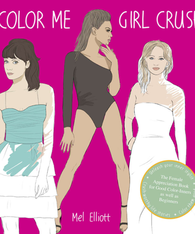 Color Me Girl Crush Coloring Book