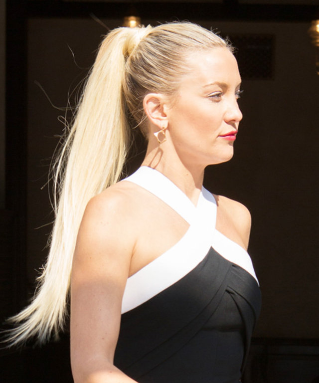 How To Get Kate Hudsons Ponytail From Jimmy Fallons Show Instyle