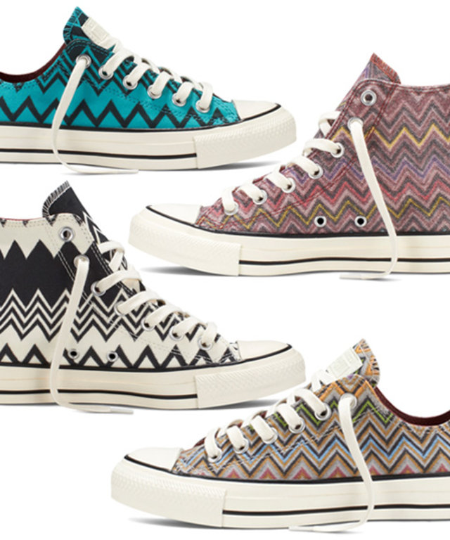 Missoni and Converse Launch a New All Star Sneaker Collection ... 0d25770d18