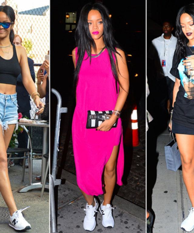 Rihanna in New Balance Sneakers