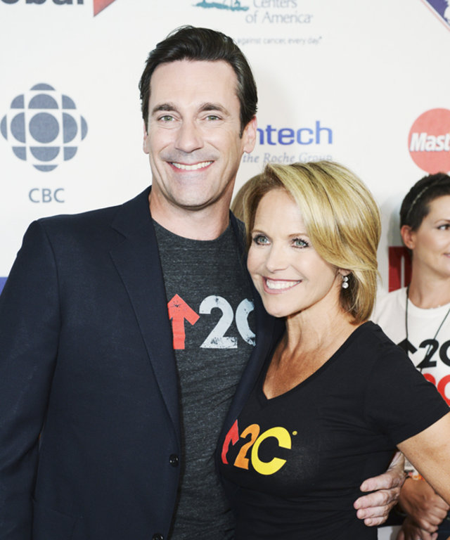 Katie Couric and John Hamm at Stand Up To Cancer