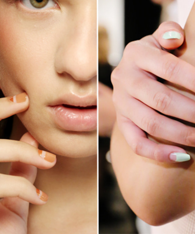 Negative Space Nails - Creatures of Comfort - Charlotte Ronson