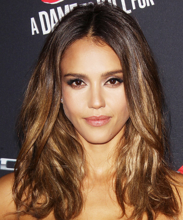 Find Out How To Get Jessica Albas Caramel Highlights Instyle