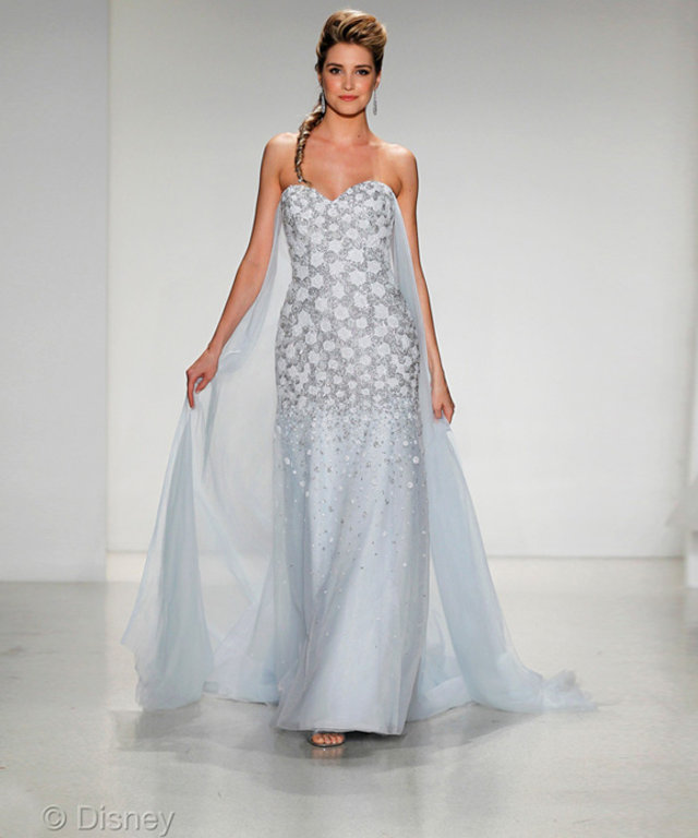 See Disney\'s Elsa-Inspired Wedding Gown | InStyle.com