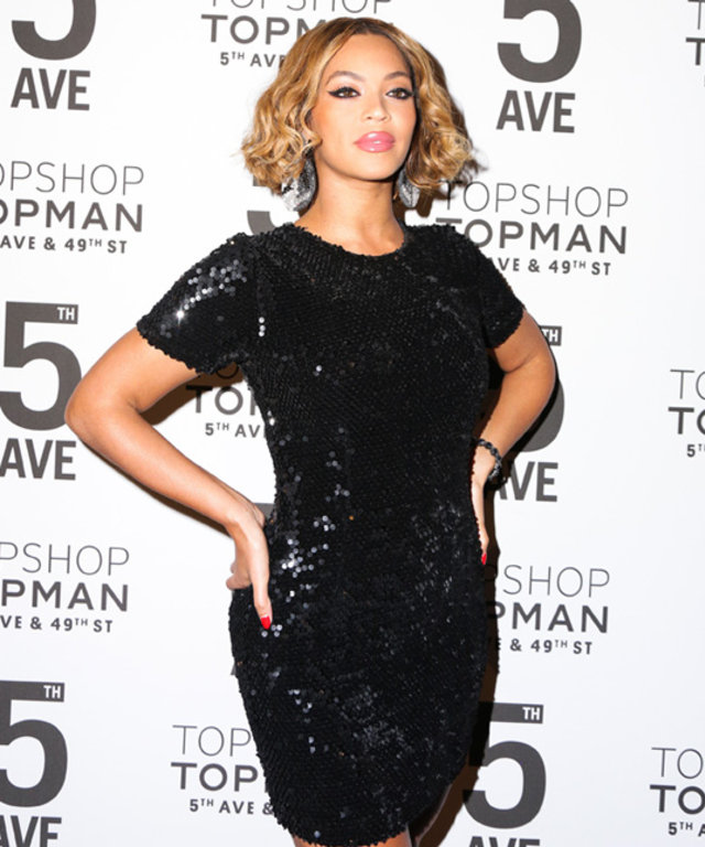 Beyonce attends Topshop store launch dinner.