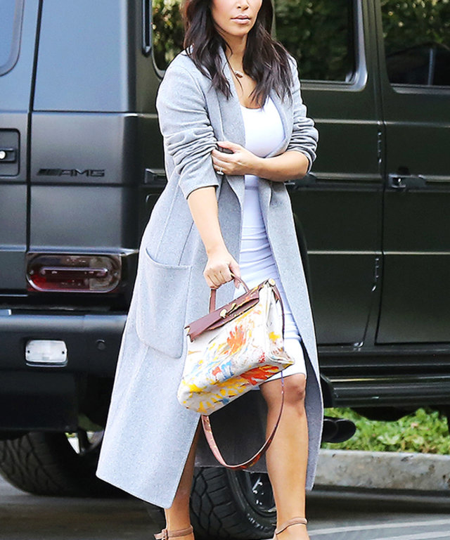 213897a58 Kim Kardashian Debuts Her North West–Painted Handbag | InStyle.com