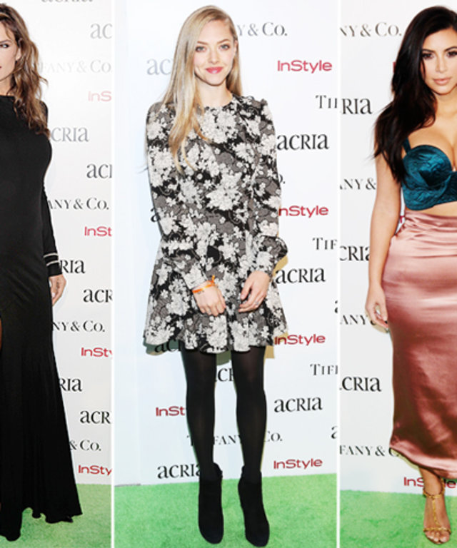Alessandra Ambrosio, Amanda Seyfried, and Kim Kardashian at ACRIA Dinner