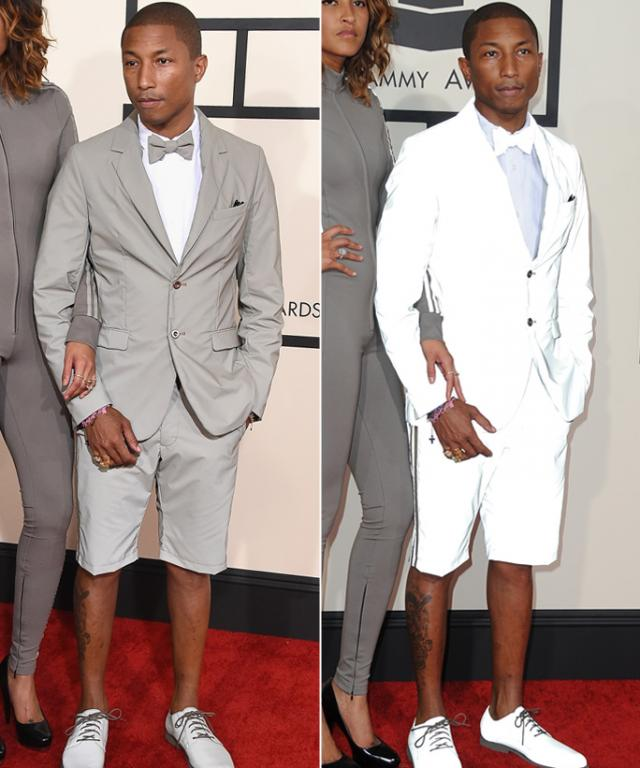 Pharrell's Adidas Suit at the 2015 Grammys