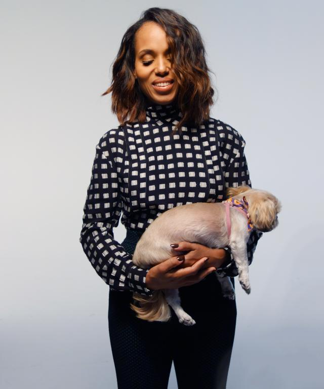 Kerry Washington and her dog, Josie