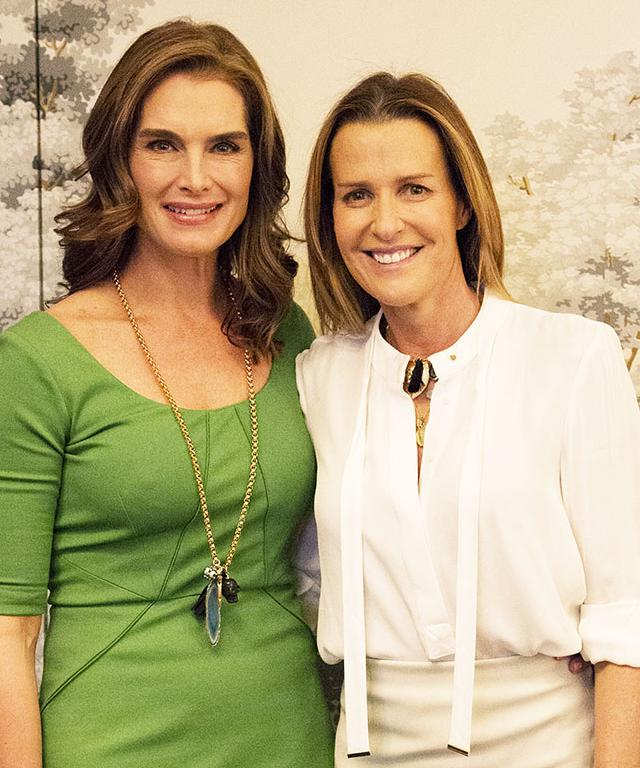 BROOKE SHIELDS AND INDIA HICKS
