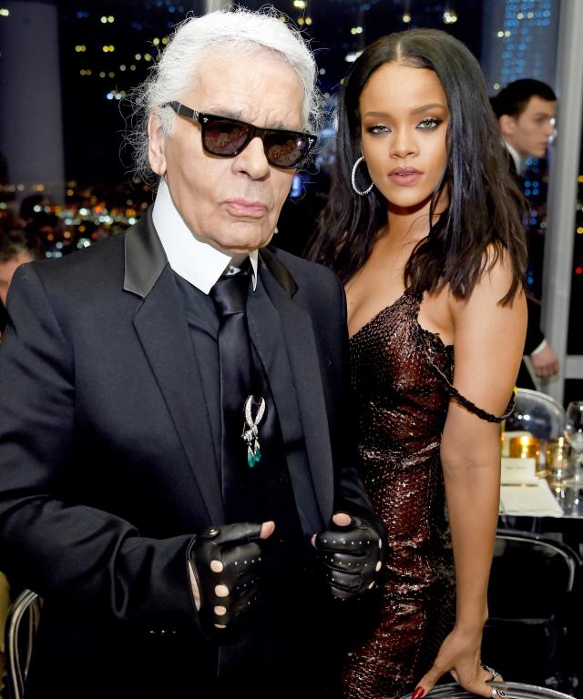 Karl Lagerfeld and Rihanna