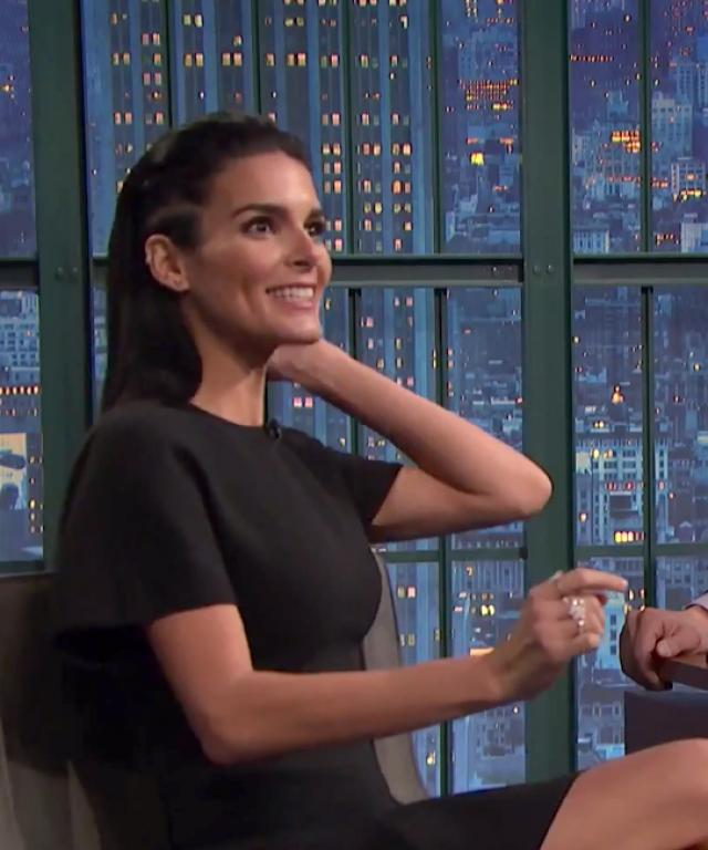 Angie Harmon Lorne Michaels Late Night with Seth Meyers