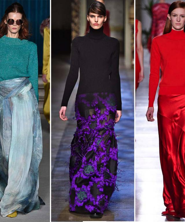 LFW Trend: Sweaters and Evening Skirts