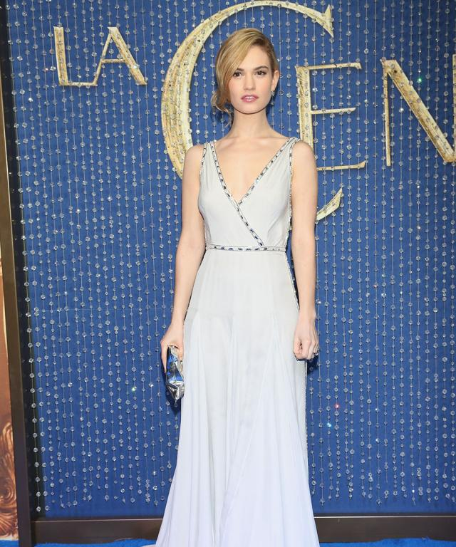 Lily James's Cinderella Look