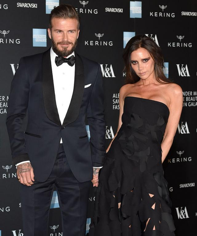 David and Victoria Beckham at Savage Beauty Gala