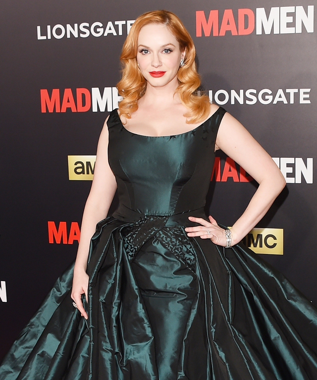 Christina Hendricks in Zac Posen