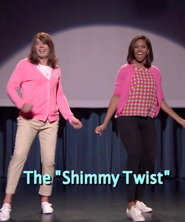 Michelle Obama Jimmy Fallon Evolution of Mom Dance Part 2