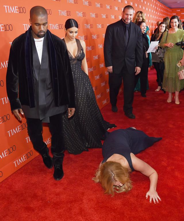 Kim Kardashian and Kanye West with Amy Schumer