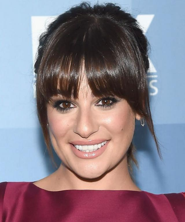 hair bangs style haircuts and hairstyles with bangs instyle 3152 | 051315 lea michele lead