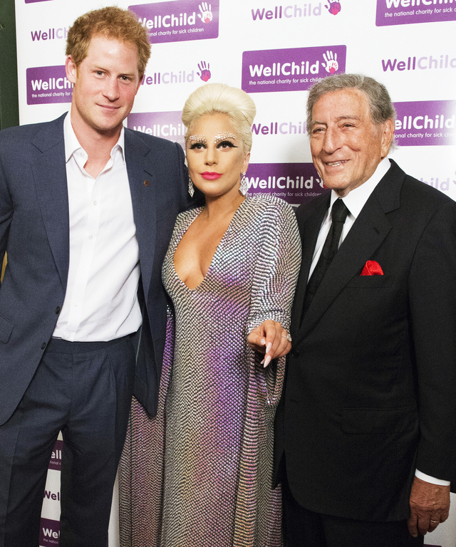 Prince Harry Attends Lady Gaga And Tony Bennett Gala Concert In Aid Of WellChild