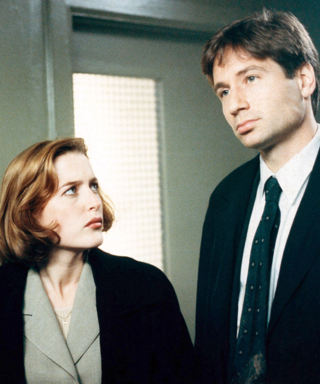 THE X-FILES, (from left): Gillian Anderson, David Duchovny, 1993-2002. TM and Copyright ©20th Centur