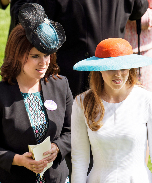 Princess Eugenie and Princess Beatrice on day 3 of Royal Ascot at Ascot Racecourse on June 18, 2015 in Ascot, England.