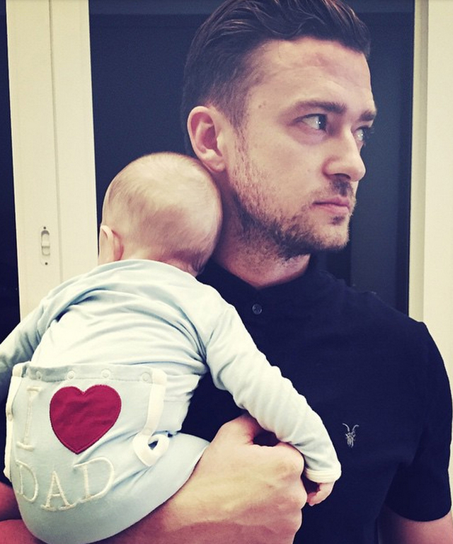 Justin Timberlake and son Silas on Father's Day 2015