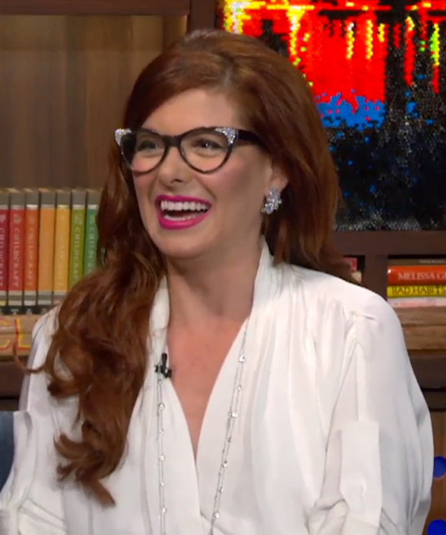 Debra Messing on Watch What Happens Live with Andy Cohen