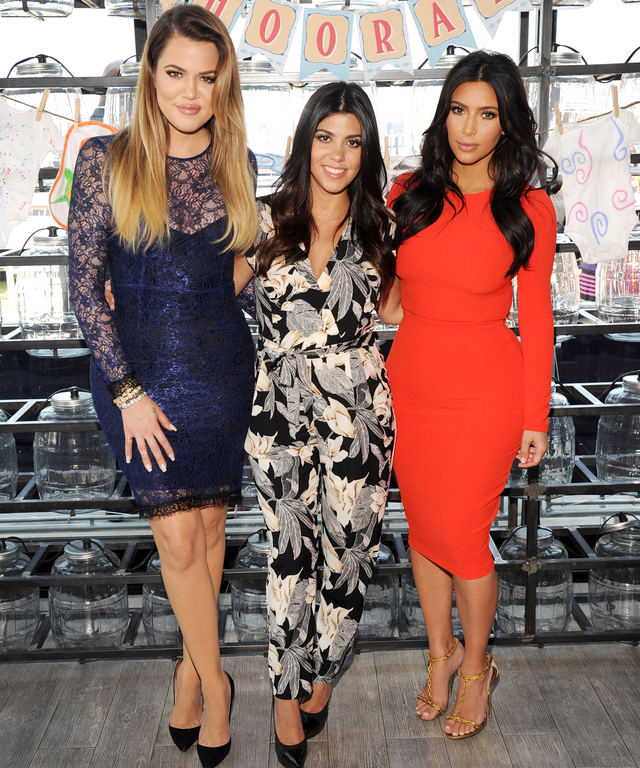 Khloé, Kourtney and Kim Kardashian joined Babies R Us to surprise military moms-to-be with gifts, including items from their Kardashian Kids collection, at an Operation Shower event at Battello on July 7, 2014 in Jersey City, New Jersey.