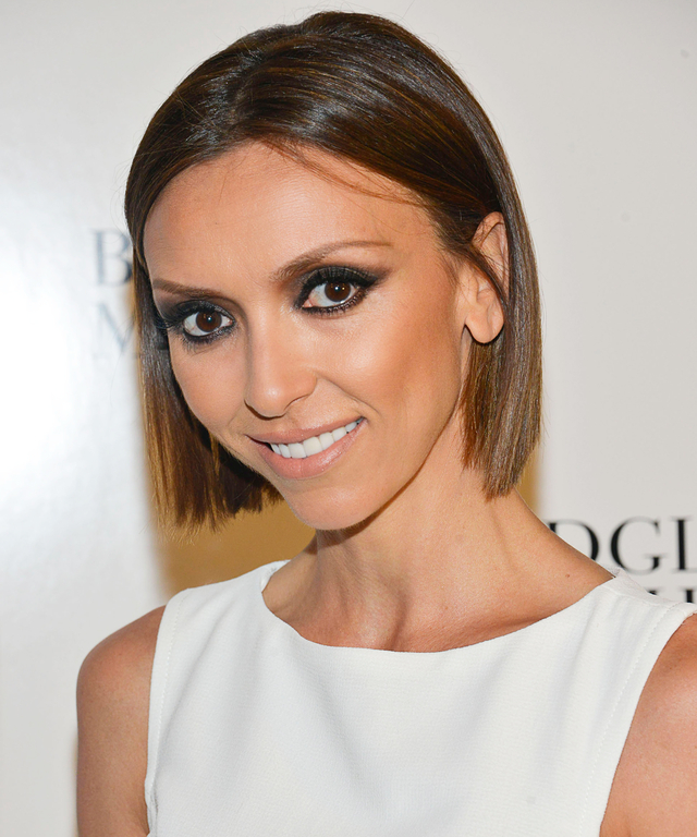 Guiliana Rancic attends the Badgley Mischka Show during Mercedes-Benz Fashion Week Fall 2014 at The Theatre at Lincoln Center on February 11, 2014 in New York City.