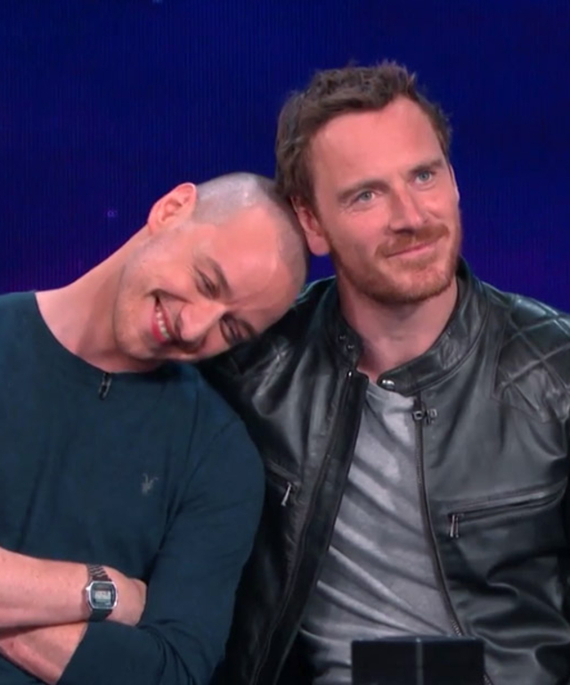 James McAvoy and Michael Fassbender on Conan