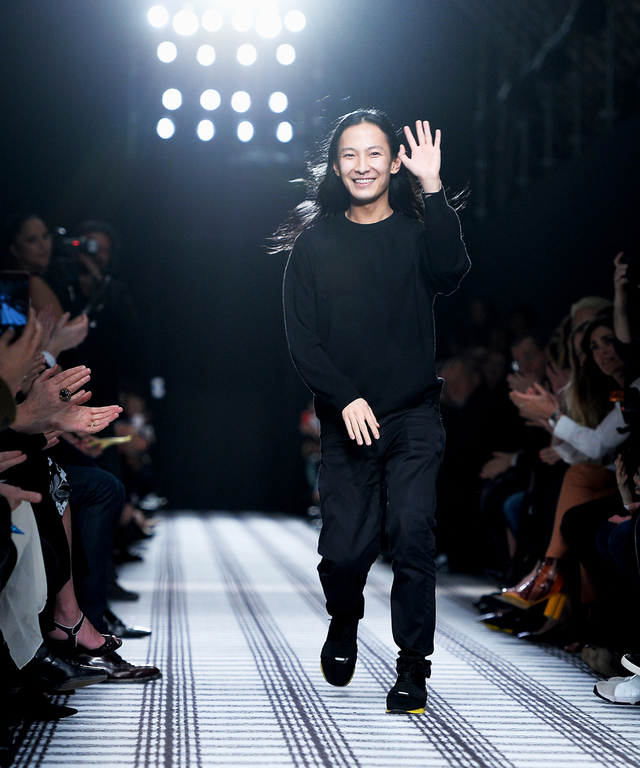 Designer Alexander Wang walks the runway after the Balenciaga show as part of the Paris Fashion Week Womenswear Fall/Winter 2015/2016 on March 6, 2015 in Paris, France.