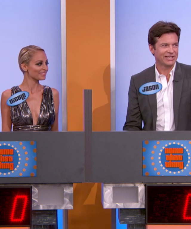 Nicole Richie and Jason Bateman on Jimmy Kimmel Live!