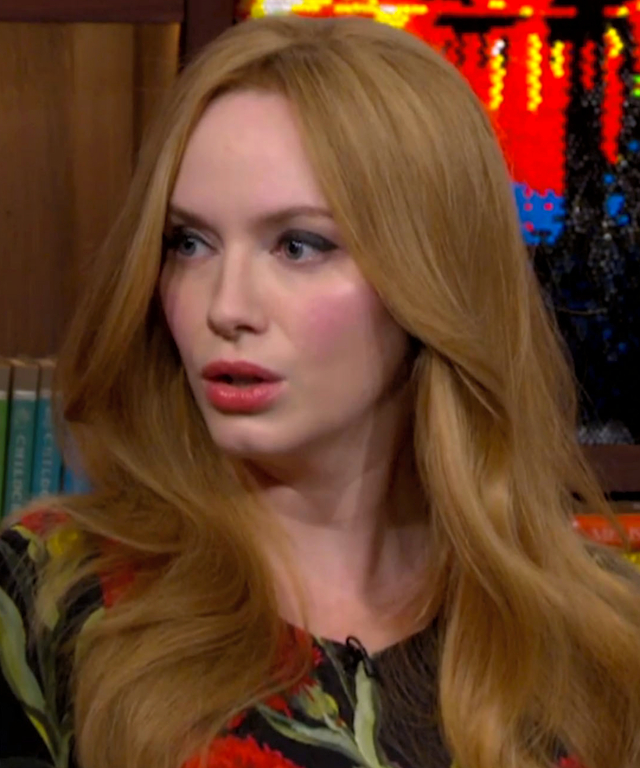 Christina Hendricks on Andy Cohen
