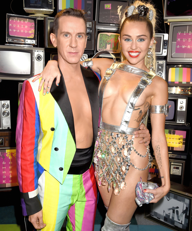 Jeremy Scott and Miley Cyrus,