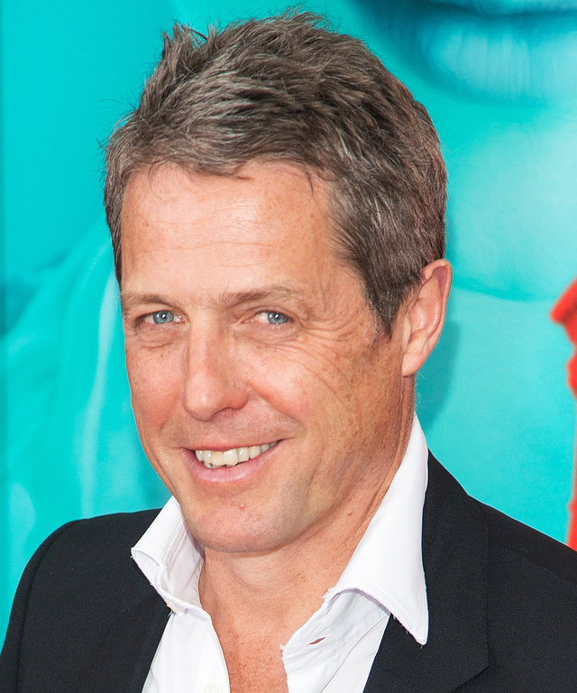 Actor Hugh Grant attends  The Man From U.N.C.L.E.  New York premiere at Ziegfeld Theater on August 10, 2015 in New York City.