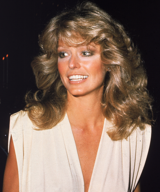 Farrah Fawcett At Golden Globes
