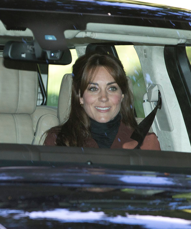 Kate Middleton and Prince William go the Crathie Kirk for Sunday morning prayers in Scotland.