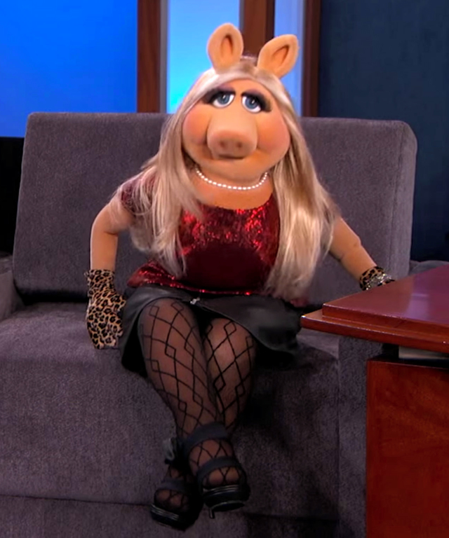 Kermit and Ms Piggy on Jimmy Kimmel Live!