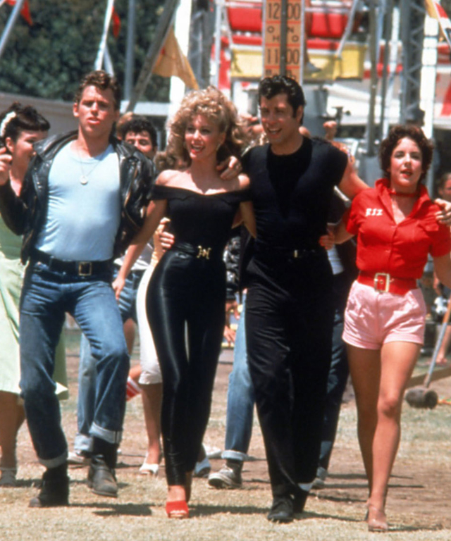 GREASE, Jeff Conaway, Olivia Newton-John, John Travolta, Stockard Channing, 1978. © Paramount Pictur