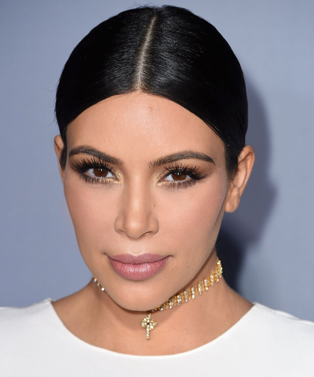 Kim Kardashian West arrives at the InStyle Awards at Getty Center on October 26, 2015 in Los Angeles, California.