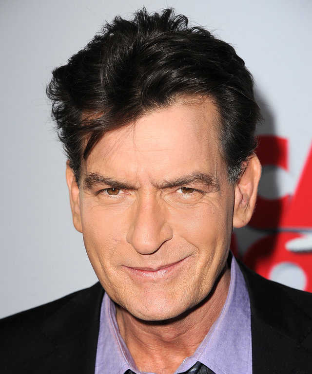 Actor Charlie Sheen arrives at the 'Scary Movie V' Los Angeles premiere at ArcLight Cinemas Cinerama Dome on April 11, 2013 in Hollywood, California.