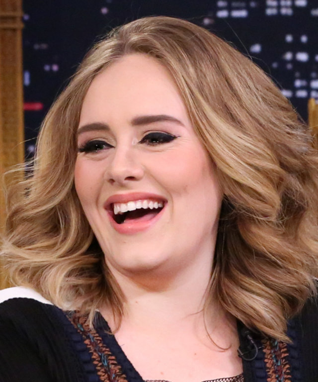 Singer Adele during an interview with host Jimmy Fallon on November 23, 2015